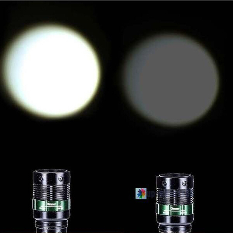 2000 Lumen Zoomable Q5 LED Flashlight Torch Zoom Lamp Light camp outdoor survival tool Flashlight Black