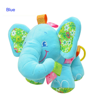 Infant Stuffed Elephant Music Appease Dolls Plush Soft Baby Animal Rattles Hand Bell Music Player Calm