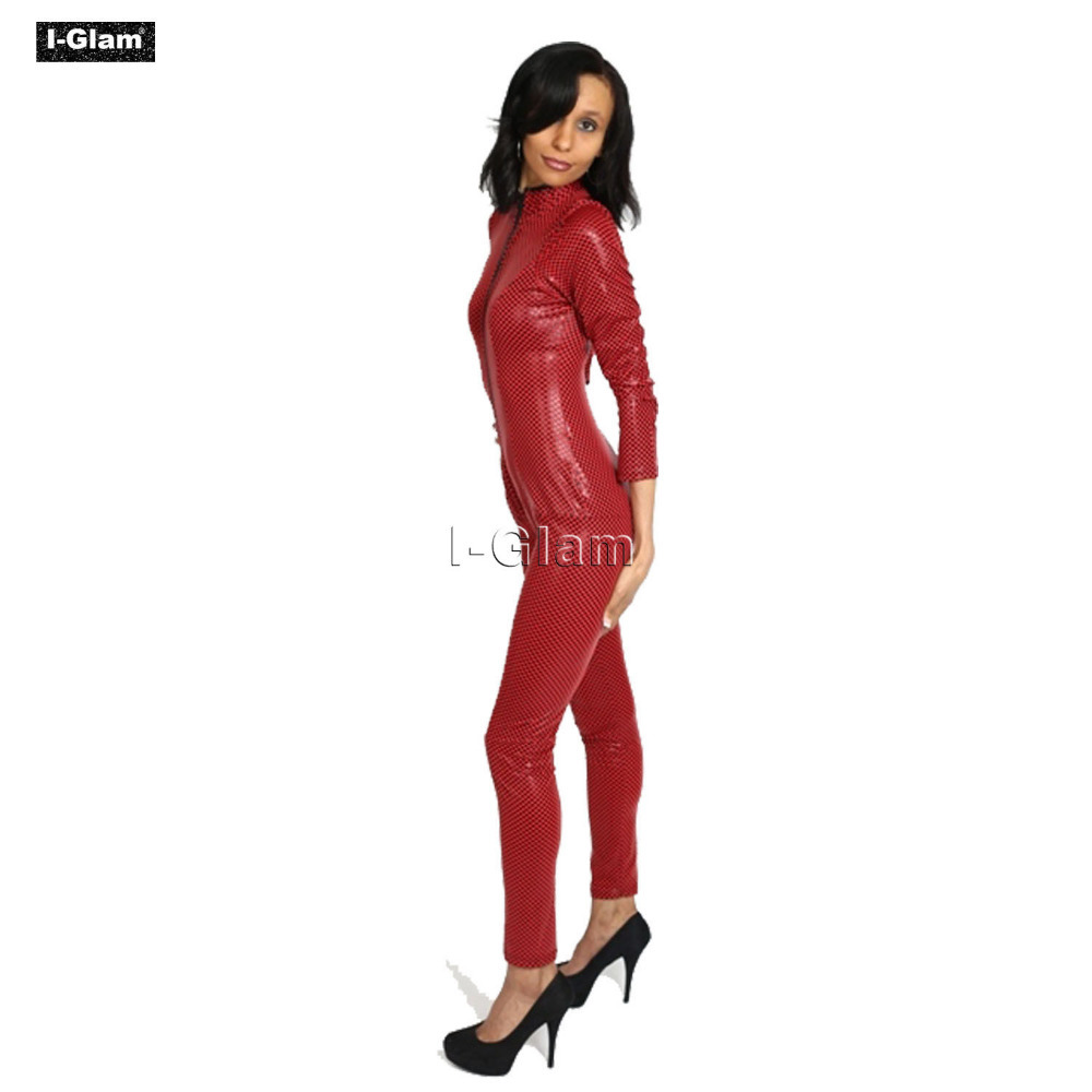 2eda1a57eee5 I Glam Sexy Women s Snake Skin Print Gothic Punk Overall Lycra Catsuit  Romper Red CA 0093 on Aliexpress.com