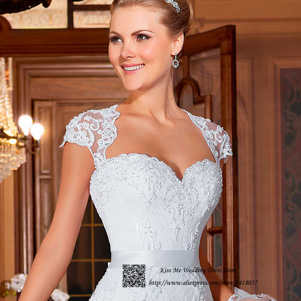 Wedding Dress Cap Sleeves Detachable | Wedding