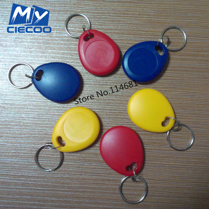 Free  Shipping  RFID Writable Keyfobs proximity Rewritable 125Khz  Key Tags Tokens Access control For Security System 10pcs/lot