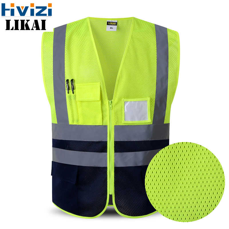 High Visibility Mesh Reflective Safety Vest Logo Printing Free Shipping