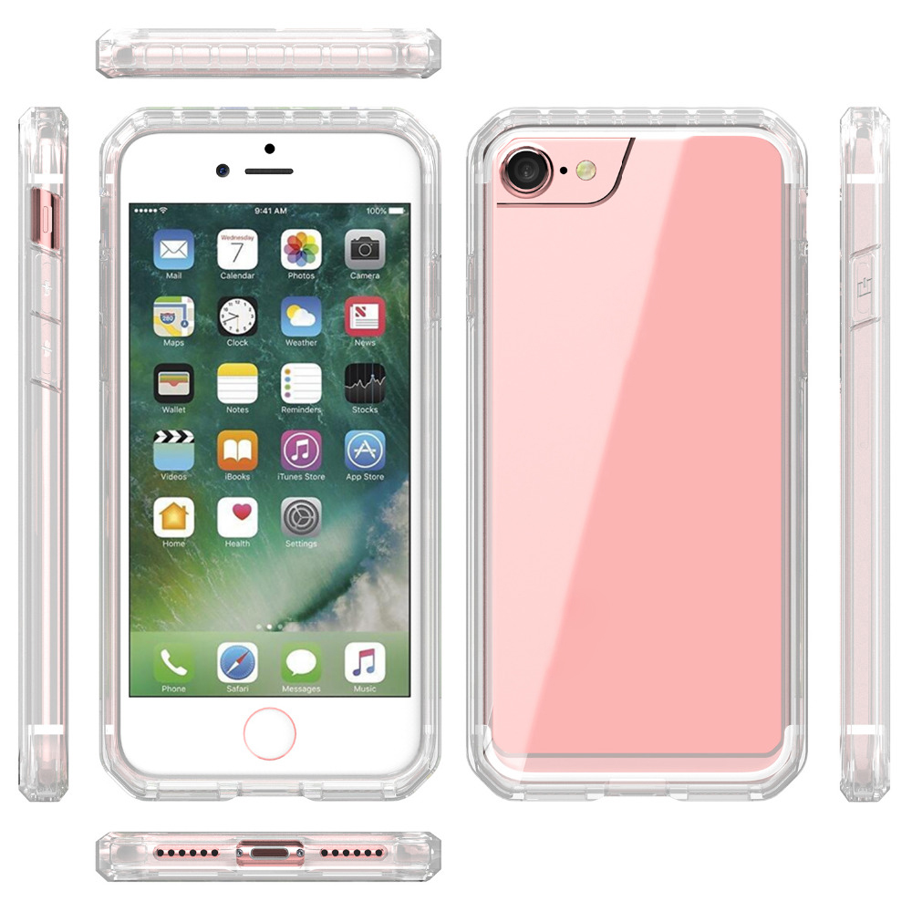 For iPhone 6s Case Silicone Transparent Hybrid Protective Frame Cover For iPhone 6 Case 6s Plus 7 Plus phone Cases 8 Plus Case