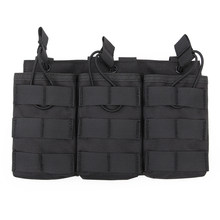 Surwish Tactical Triple Magazine Pouch for G36 Mag Outdoor Paintball Games Group Activities - Black(China)