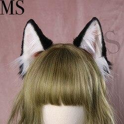 Nieuwe Hoop Hond Oor haarband voor vrouwen Beest Oren meisje Haar accessoires chouchou Hoofddeksels haarelastiekjes Hand Werk