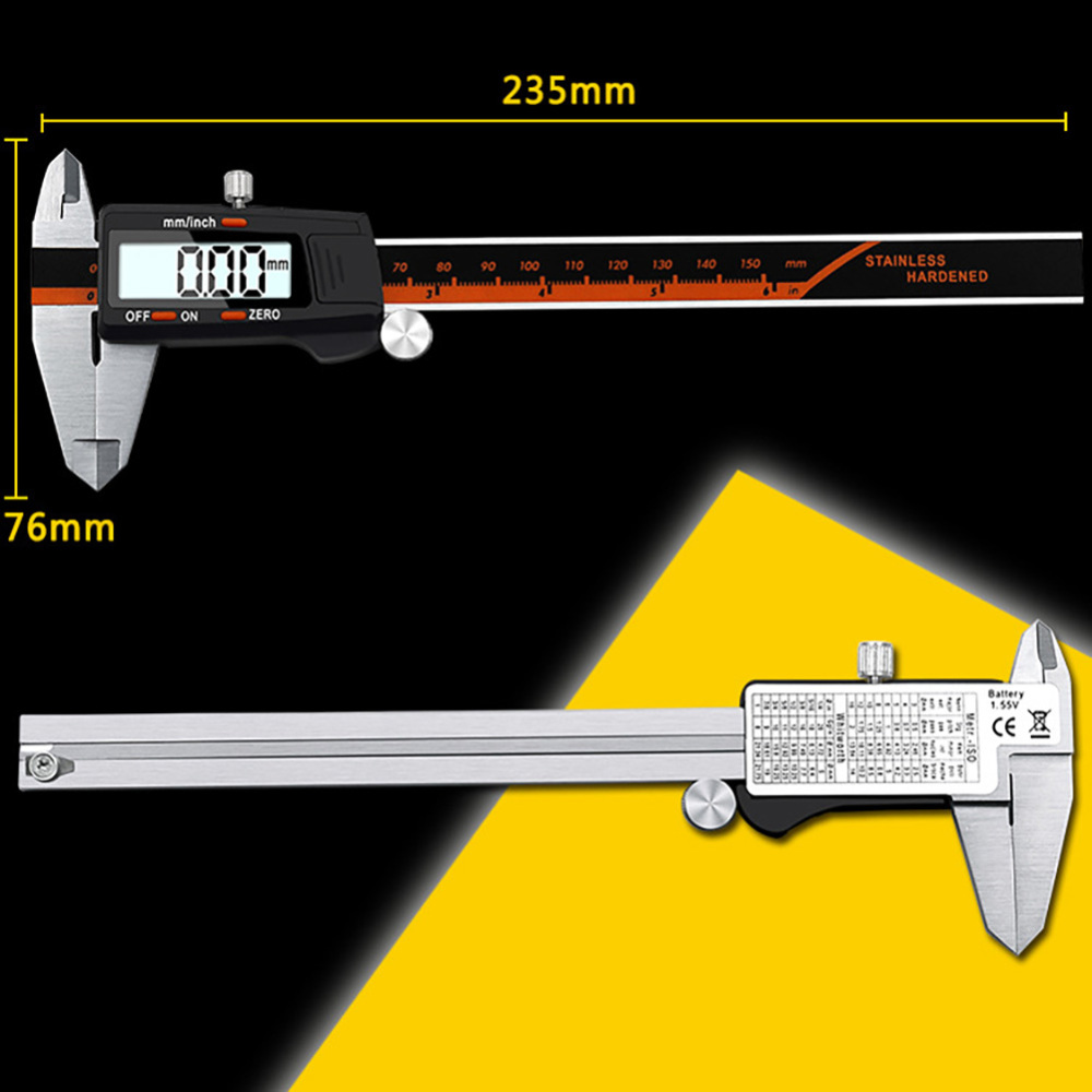 Precisão LCD Vernier Caliper Ferramentas De Medição Medidor de Alta Qualidade