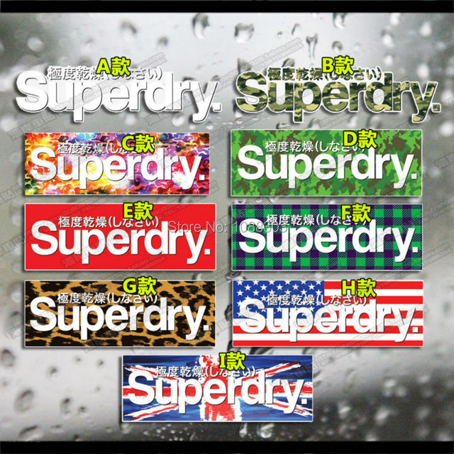 9styles car styling japanese hf hellaflush superdry car sticker for car whole body motorcycle helmet reflective