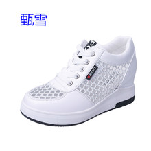 New Summer 2017. Net Face Ventilation. Increased In. White Shoes Bottom. Lace Ups, Casual Shoes