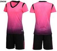 AXFAM 2017 Women S Soccer Jerseys Kit Short Sleeve Striped Sportswear Custom Training Suit Survetement Football