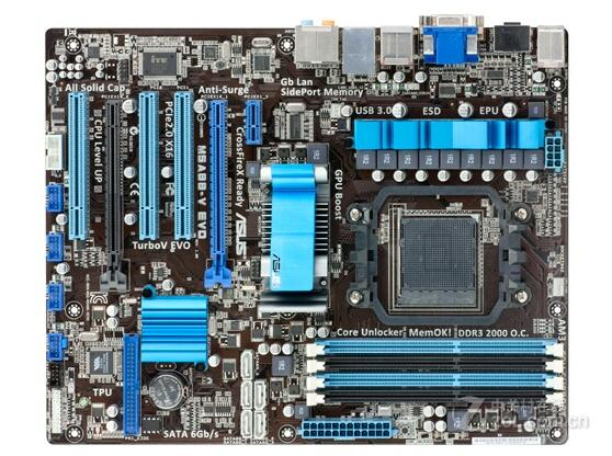 Asus M5A88-V EVO 880G chip supports AM3+ bulldozer support USB3.0 85%-95%new original 960gm vgs3 fx bulldozer am3 integrated small board support open core