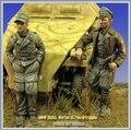 Os Kits de resina 1/35 waffen ss panzer soldados não inclui o tanque Resina Modelo DIY BRINQUEDOS novo SEGUNDA GUERRA MUNDIAL WW2