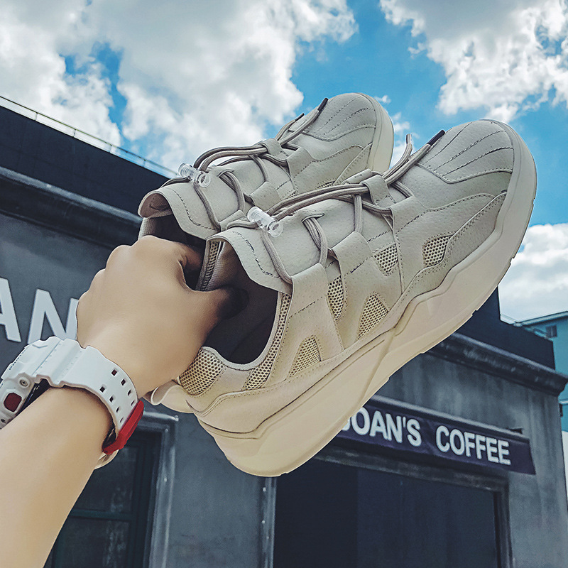 2019 New Sneakers Chunky mans Shoes Breathable Platform Casual Korean wave Joker Haragufeng board shoes youth leisure Yasilaiya in Men 39 s Vulcanize Shoes from Shoes