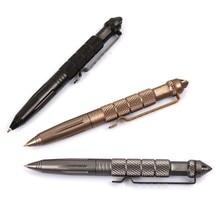 Black Tactical Pen Glass Breaker Self Defense Emergency Survival Tool Aluminum New