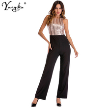 Sexy Sequins Summer Bodysuit women Body mujer Rompers Womens Jumpsuit Elegant Playsuit Overalls Belted Leotard overalls Long New