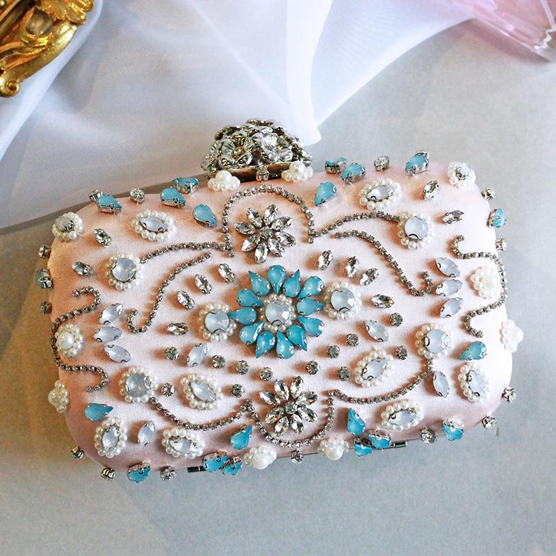 Abend Tasche Tag Cluthes Licht Rosa Silber Farbe Abendessen Handtasche Weibliche Damen Diamant Kupplung Party Hochzeit Datum Höhere Qualität-in Kupplungen aus Gepäck & Taschen bei  Gruppe 1