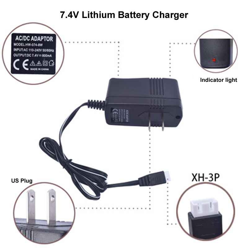 HM Lithium <font><b>battery</b></font> charger for Speed car/aircraft/water gun <font><b>7.4V</b></font> <font><b>800Mah</b></font> lithium <font><b>battery</b></font> charger 18650 bipolar balance charger image
