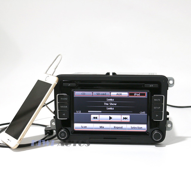 OEM  Factory VW Car Radio RCD510 USB Version CD Player 5ND035190A CODE OPS iPod Bluetooth New For Golf Tiguan Jetta Passat