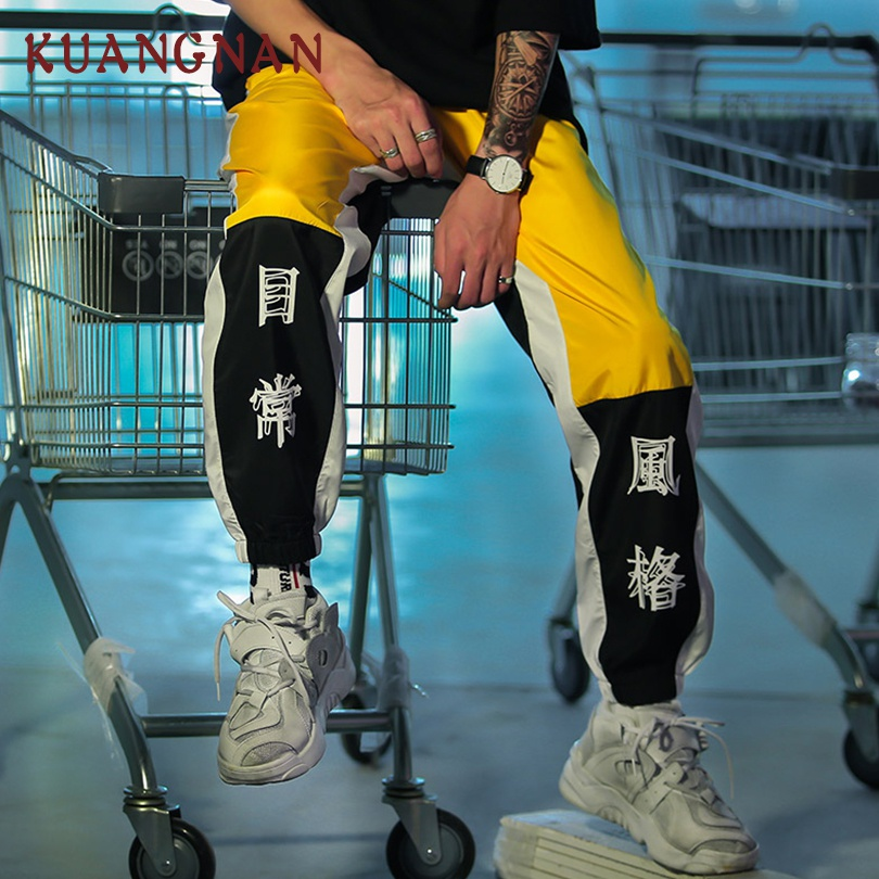 KUANGNAN Men Jogger-Pants Japanese Streetwear Hip-Hop Casual 5XL