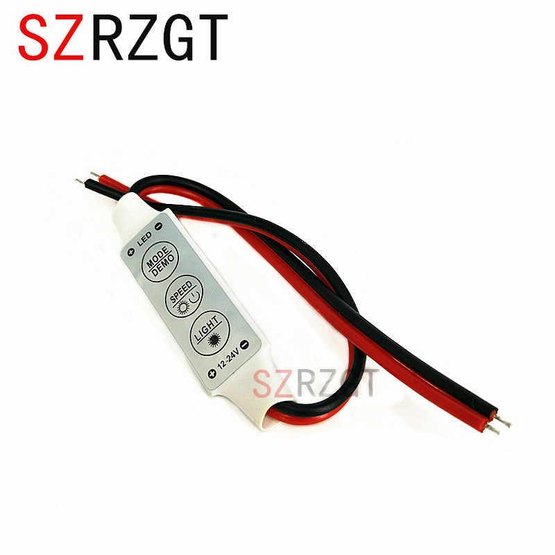 12 V-24 V Mini 3 clés contrôleur de LED couleur simple variateur de luminosité pour LED 3528 5050 lumière de bande