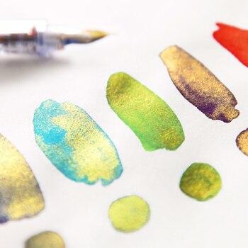 Jamie Notlar Saf El Yapımı Altın Tozu Renkli Mürekkep çeşme Divit