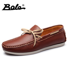 BOLE New Designer Slip on Men Casual Shoes Summer Fashion Breathable Driving Shoes Men Flats Loafers Comfort Shoes Men Footwear