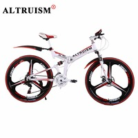 ALTRUISM X6 Mountain Bike Bicicleta 21 Speed Bicycle Bmx Steel 26 Inch Bisiklet Folding Bikes Double