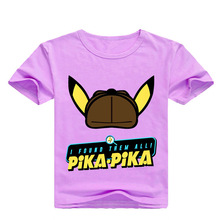 все цены на Z&Y 2-16Y 2019 Fashion Summer Pokemon Detective Pikachu T Shirts Kids Shirts Boys T-shirt Short Sleeve Causal Clothes Girls Tees