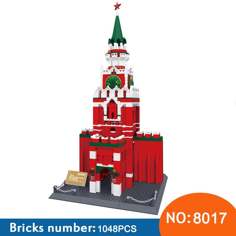Wange 8017 1048 шт. MOC известный Кремль Структура строительные блоки собраны на день рождения игрушки для детей Кирпич