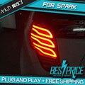 AKD Car Styling para FAÍSCA CAUDA Luzes LED Lâmpada Traseira Da Luz Da Cauda LEVOU DRL + Freio + Reverter + Sinal Acessórios Para automóveis
