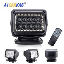 AICARKAS 7 дюймов 50 Вт светодиодный поисковый светильник беспроводной пульт дистанционного управления Точечный светильник светодиодный морской поисковый светильник светодиодный рабочий светильник для внедорожника