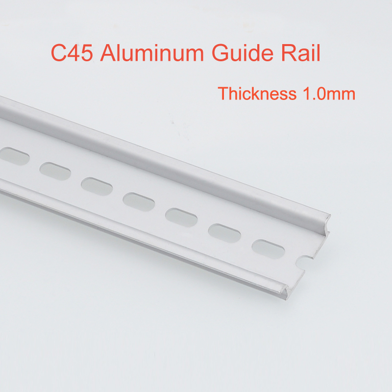 2pcs C45 Aluminum Guide rail din Mounting clip Installation track fixed 35mm Wiring row fixed MCB fixing seat L:500mm din rail