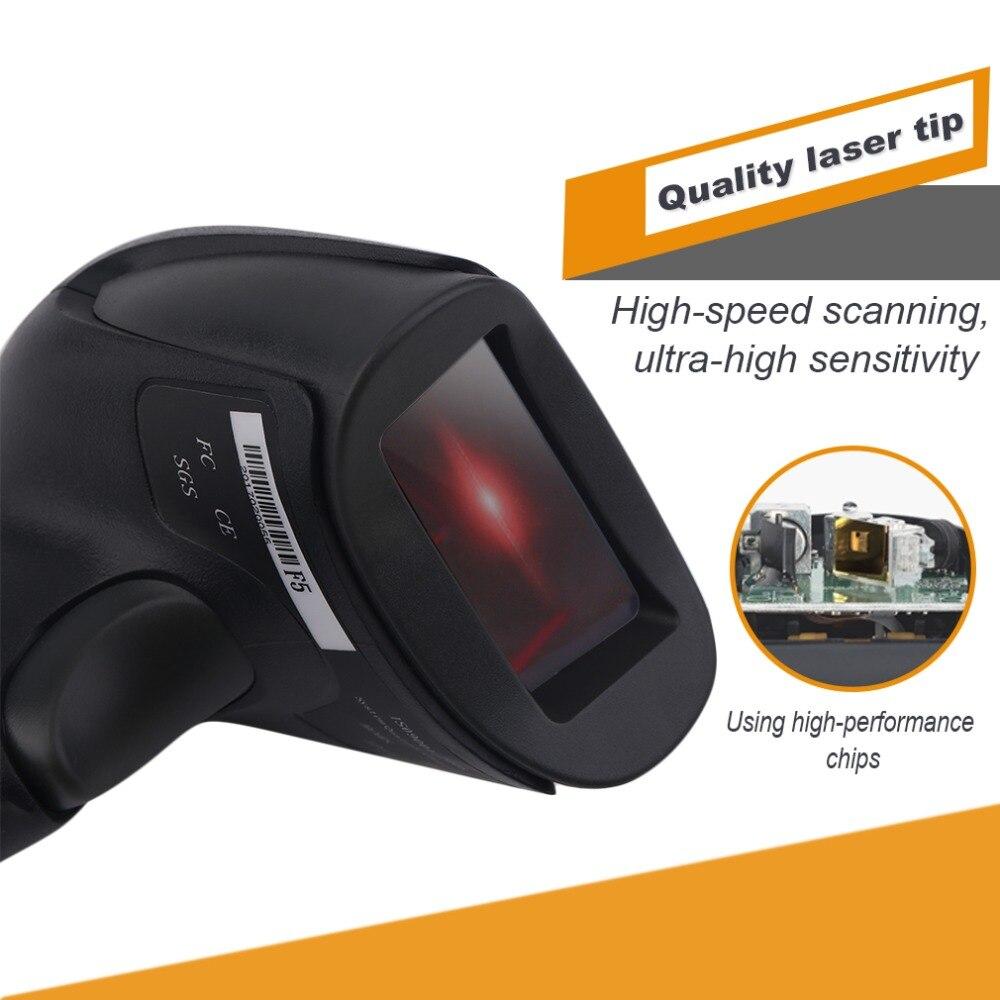 Профессиональный Проводной USB лазерный сканер штрих-кода Reader Мобильных Платежей компьютер Экран сканер с 10-800 мм глубина сканирования