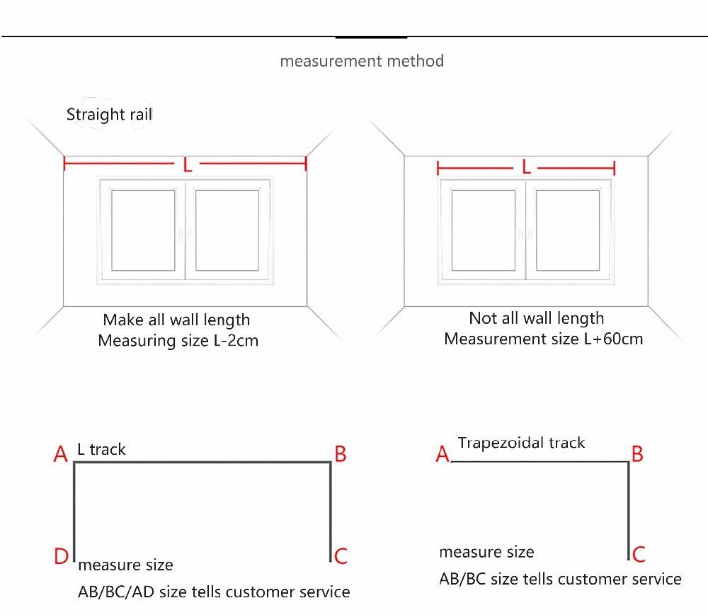 Купить с кэшбэком Top Quality Aluminum Electric Curtain Track Customizable Motorized Ceiling Mount Window Curtain Track for Smart Home