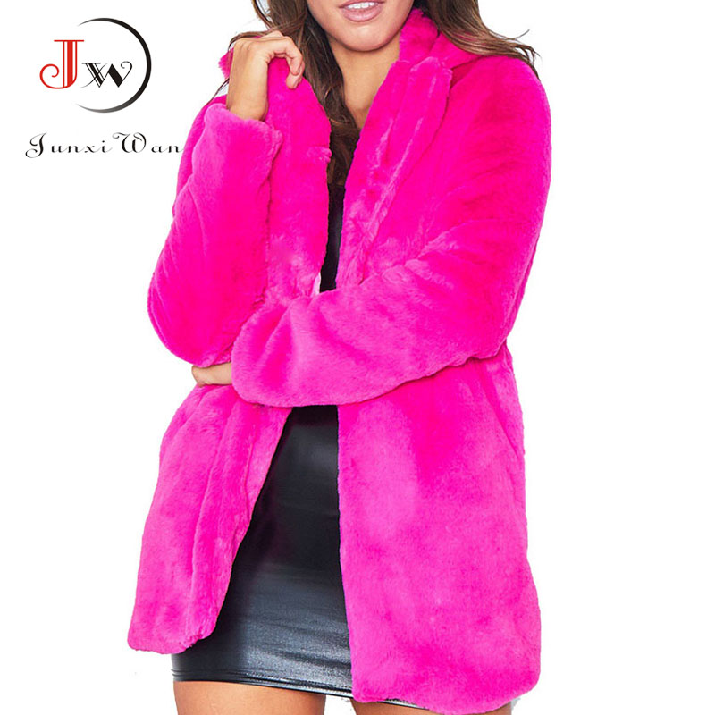 2018 winter coat women Female jacket new high quality fashion warm faux fur jackets coats plus size jaqueta feminina casaco
