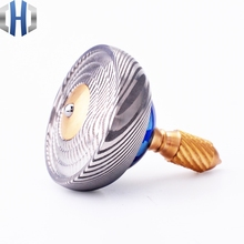 New Collection Level UFO Hand Gyro Titanium Horse Damascus Handcuffs Copper Fingertips Adult EDC Toys