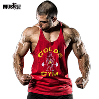 Mężczyźni Stringer Kulturystyka Fitness Podkoszulek Bez Rękawów Koszula Mężczyźni Tank Tops O-neck Bawełna Dorywczo Odzież Sportowa 5 Kolory Rozmiar Sml XL