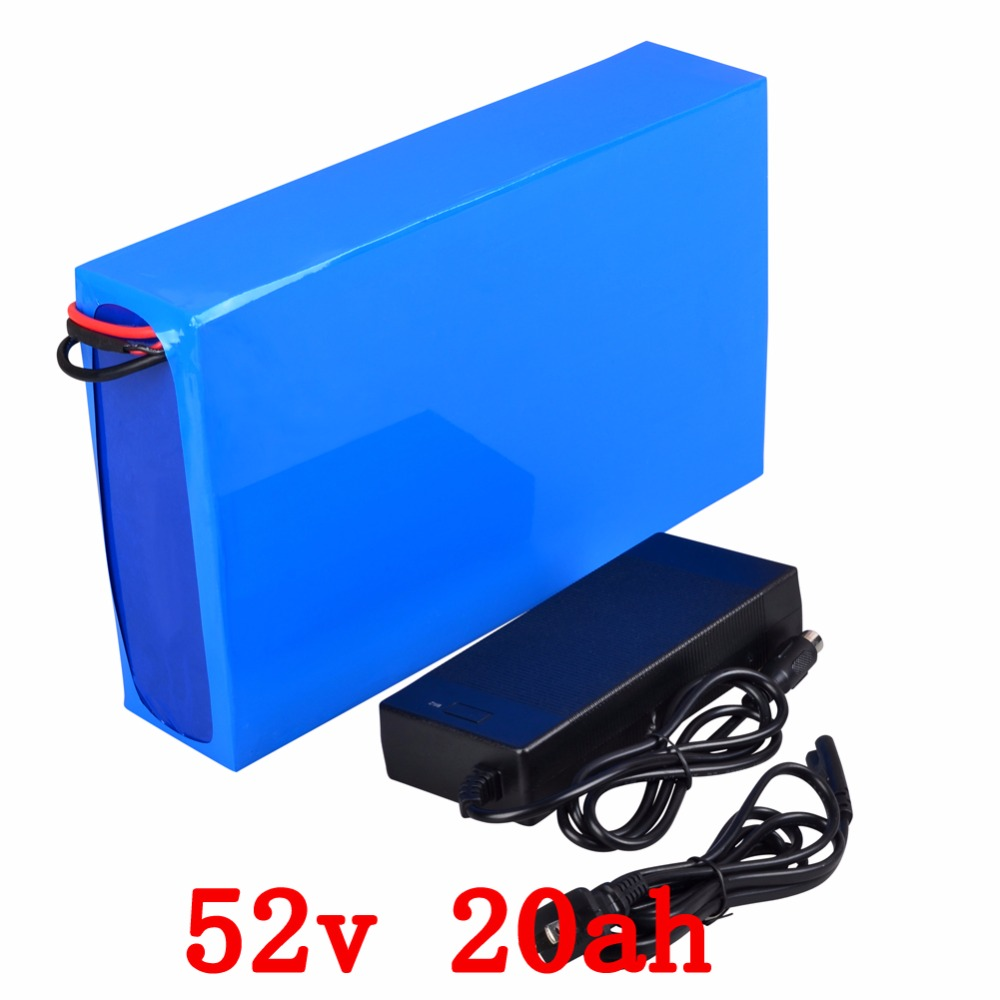 все цены на E-Bike Battery 52V 20Ah Lithium Battery Pack 48V 1000W Electric Bike Battery with BMS+Charger free shipping
