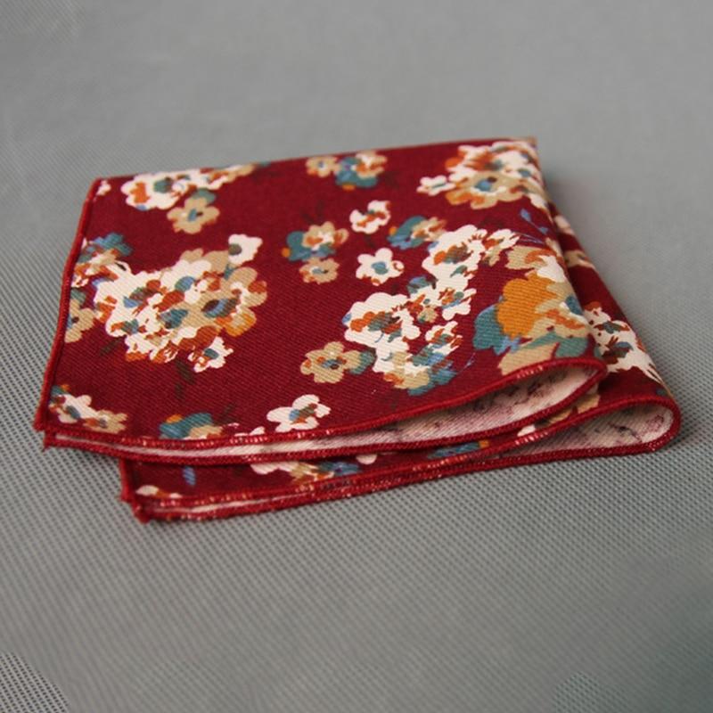 Ladies Floral Handkerchiefs For Wedding Cotton Hanky Brand Korean Men's Suits Printing Pocket Square Towel Hankies