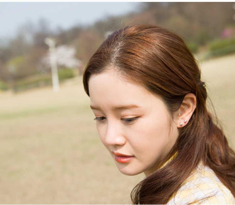 어린이를위한 순수한 925 스털링 실버 볼 스터드 귀걸이 여자 어린이 베이비 쥬얼리, 여성을위한 925 실버 2mm-3mm-7mm 작은 귀걸이