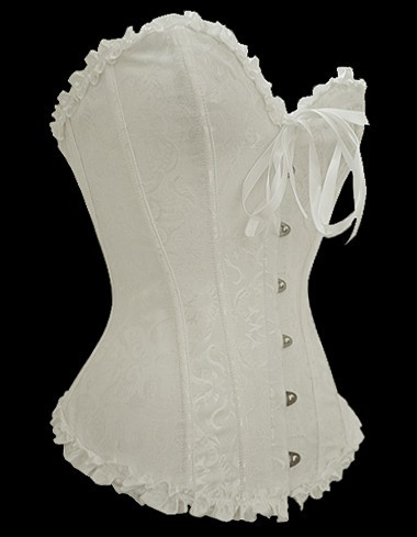 Plus-White-Overbust-Pattern-Corset-LC5085-1P