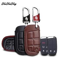 цена на KUKAKEY Genuine Leather Car Key Case Cover For Jeep Wrangler Patriot Grand Cherokee Compass Liberty Remote Key Car Styling