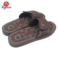 BYRIVER Best Selling Acupressure Reflexology Foot Massager Sandals Shoes Mat Healthcare Gift For Parents