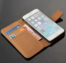 Leather Case For iPhone 6s Flip Purse Cover With Kickstand Magnet Clasp Fundas Coque Apple 6 6S / Plus