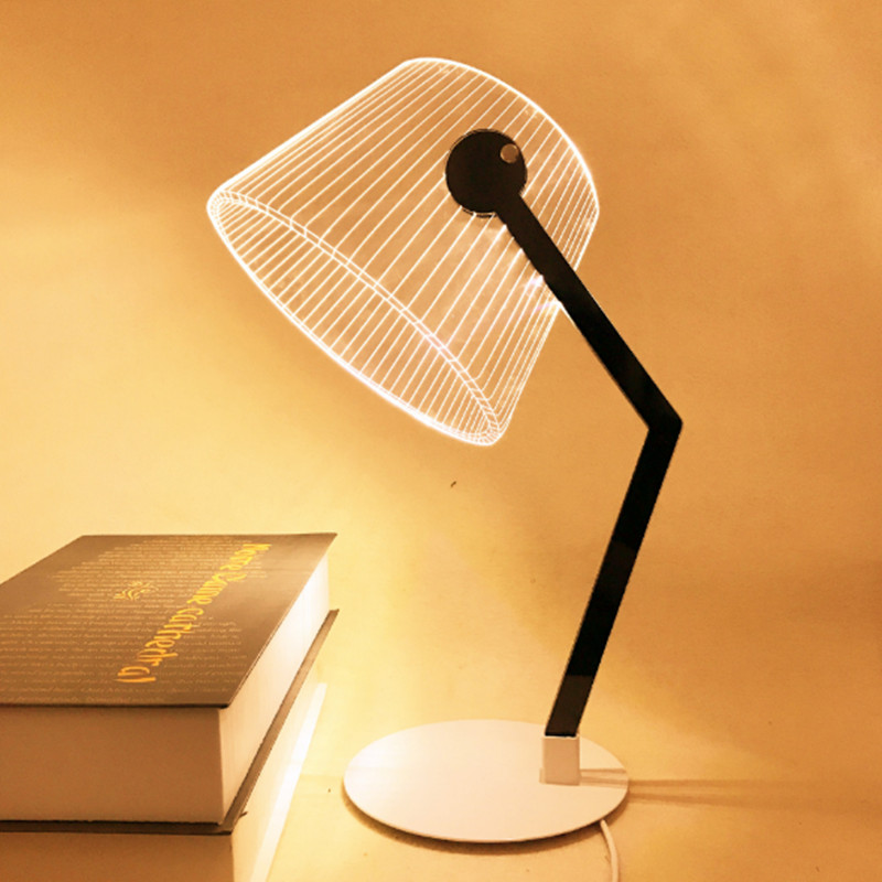 USB interface port push button switch reading desk lamp/wrought iron+acrylic 4W 5v led reading table lighting