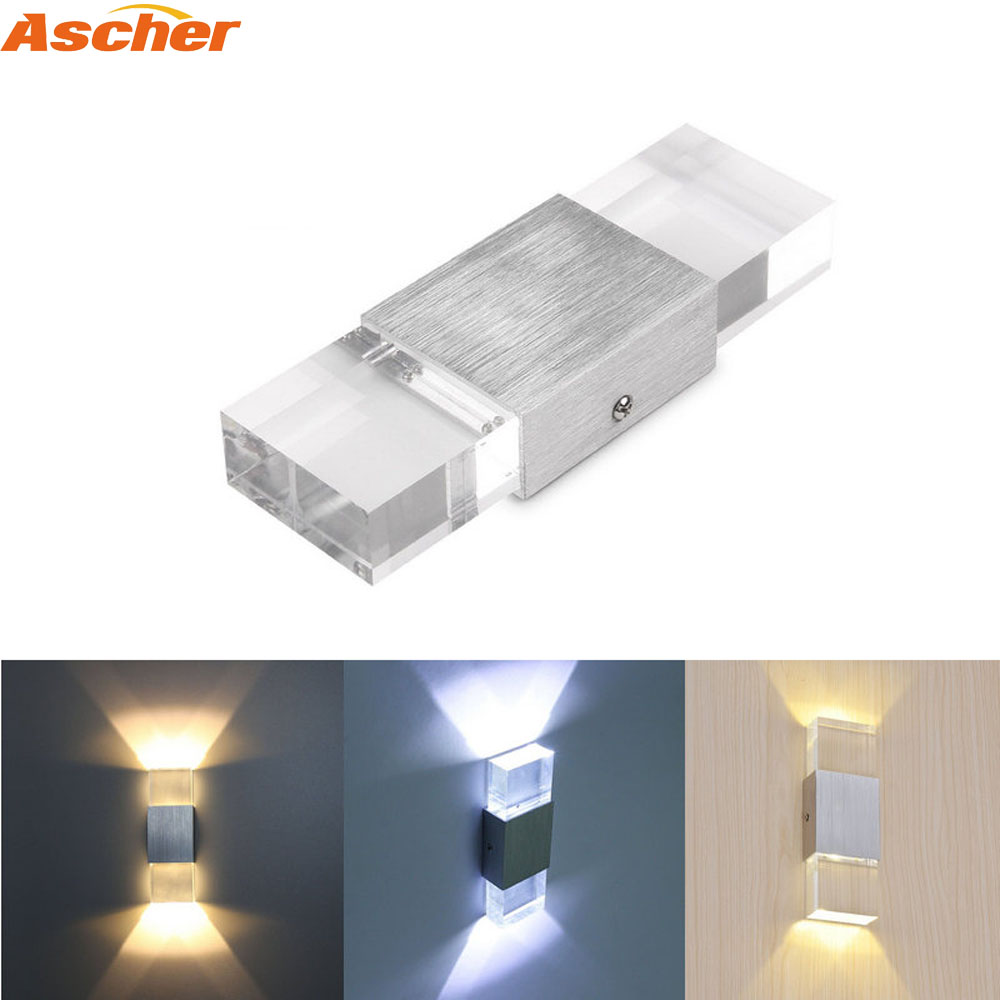 LED Wall Light Modern Lighting Nordic Style Indoor Porch Wall Lamps Rail Project Square 6W lampada Bedside Room Bedroom Decor