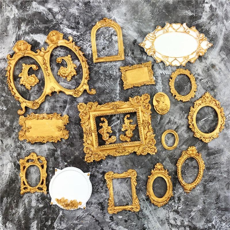 Moules en Silicone pour décoration de gâteaux, miroir, Fondant, cadre, Cupcake, chocolat, bordure de gâteau de mariage, cuisson de cuisine, DIY