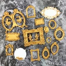 DIY lustro kremówka ciasto dekorowanie narzędzia rama ciastko czekoladowe ciasto granicy silikonowe formy kuchenne formy do pieczenia