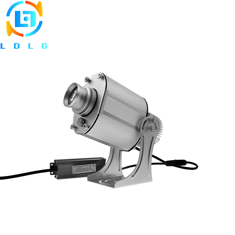 Silver Industry Indoor Rotary 20W LED Projector Lights Aluminum Alloy 20W LED Custom Image Not Waterproof Logo Projection Light