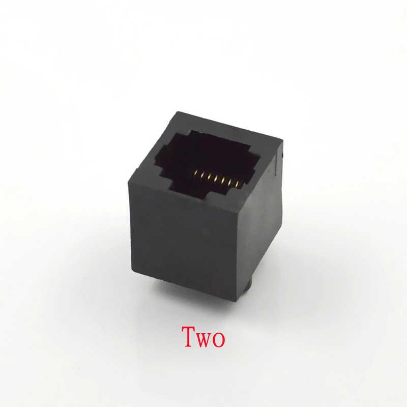 10 قطع اتصال مأخذ 8p8c pcb واجهة الشبكة rj45 موصل الشبكة دون آذان العمودية