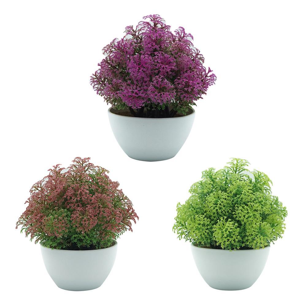 1Pc Plastic Potted Artificial Plant Bonsai Home Garden Desktop Ornament Decor Stages Fashion